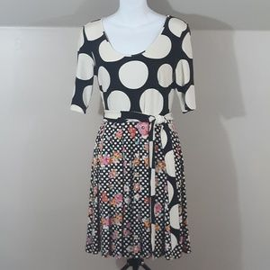 Modcloth Dresses - ModCloth Elemental Blend A-Line Dress Polka Dots